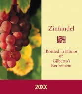 Expressions Wine Label - Vineyard