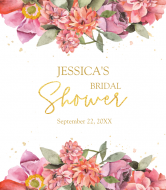 Wedding Wine Label - Boho Flowers