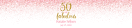Birthday Water Bottle Label - Pink Fifty and Fabulous