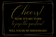 Wedding Mini Wine Label - Pop The Question