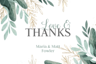 Wedding Mini Liquor Label - Watercolor Leaves
