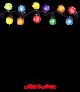 Holiday Wine Label - Yay Christmas Lights