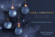 Holiday Growler Label - Elegant Merry Christmas