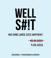 Wedding Wine Label - No One Likes 2020