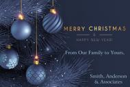 Holiday Mini Wine Label - Elegant Merry Christmas
