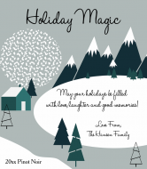 Holiday Wine Label - Nordic Winter Holiday Magic