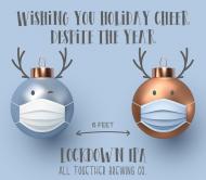 Holiday Beer Label - Social Distancing Christmas Balls