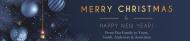 Holiday Water Bottle Label - Elegant Merry Christmas
