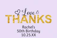 Birthday Mini Wine Label - Love & Thanks