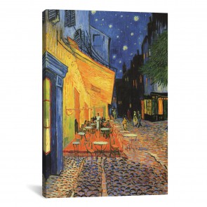 The Cafe Terrace on the Place du Forum (Cafe Terrace at Night) 1888 by Vincent van Gogh - 8''x12''