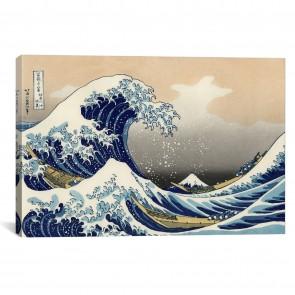 The Great Wave at Kanagawa 1829 by Katsushika Hokusai - 12''x8''