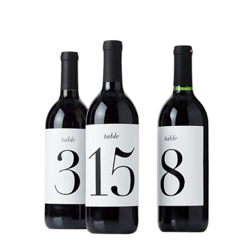 Table Number Labels
