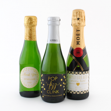Make Your Own Mini Champage Labels