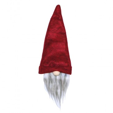 red gnome wine bottle hat party favor