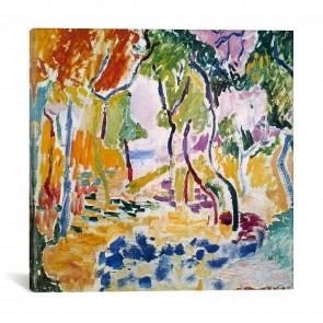 Landscape near Collioure (Study for Le Bonheur de Vivre) 1905 by Henri Matisse - 12''x12''