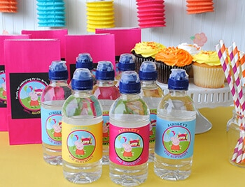 4th birthday water bottle labels