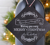 Holiday Wine Hang Tags