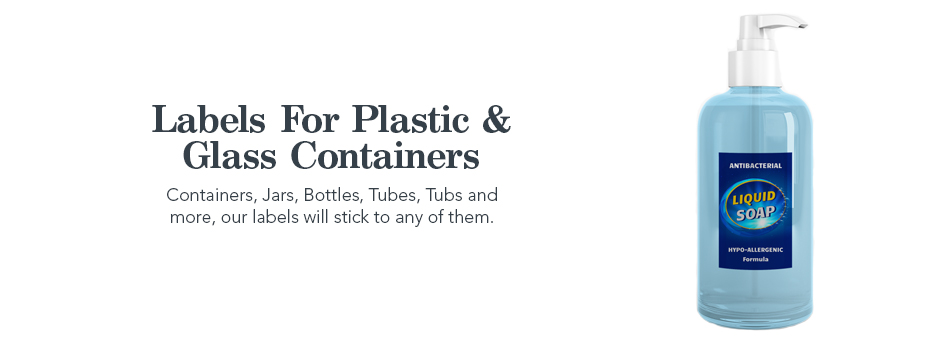 labels for plastic and glass containers