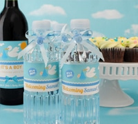 baby shower custom bottled water