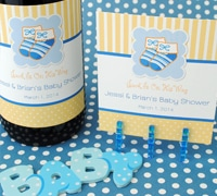 baby shower wine bottle labels