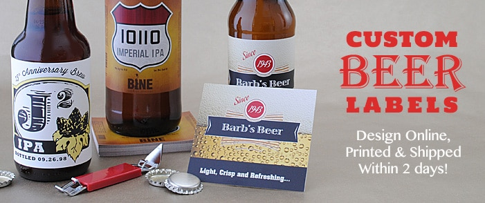 graphic regarding Printable Beer Labels referred to as Beer Bottle Labels Custom made Homebrew Labels