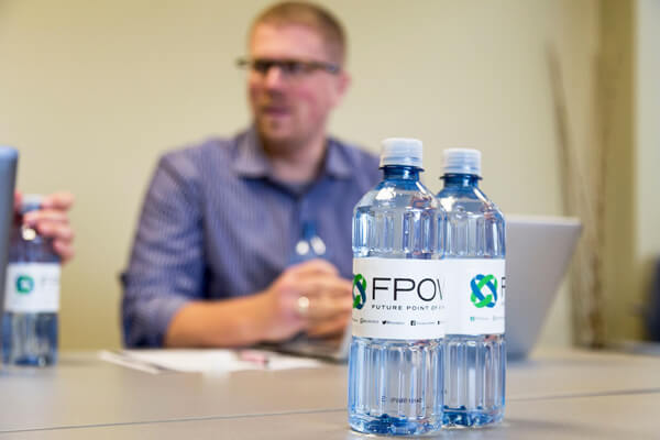 meeting room bottled water