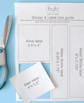 Printable Sticker & Label Sizing Guide