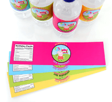 Peel and Stick Water Bottle Labels