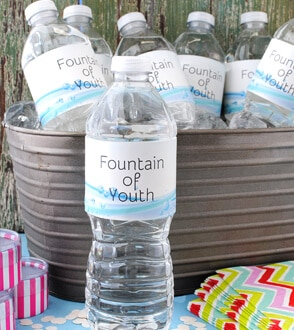 milestone water bottle labels for birthdays