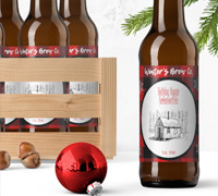 holiday beer labels