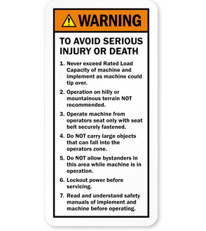 instructional safety labels