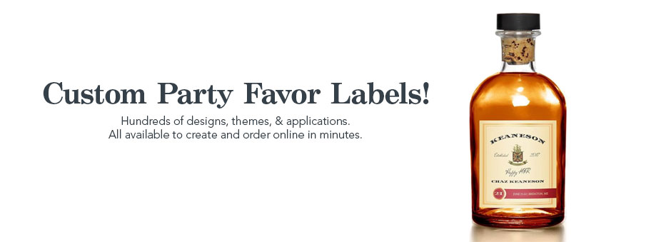 Make Your Own Party Favor Labels