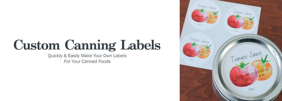 make your own canning or mason jar labels