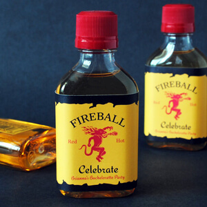 50ml Fireball bottle labels