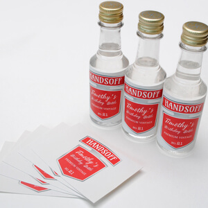 50ml Smirnoff Vodka labels