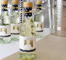 mini wine bottle labels