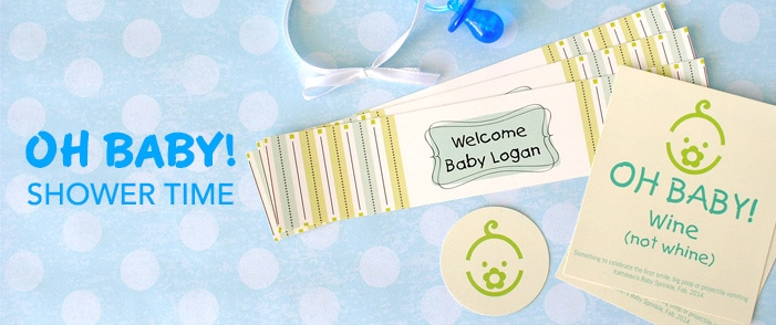 make your own baby shower labels and stickers