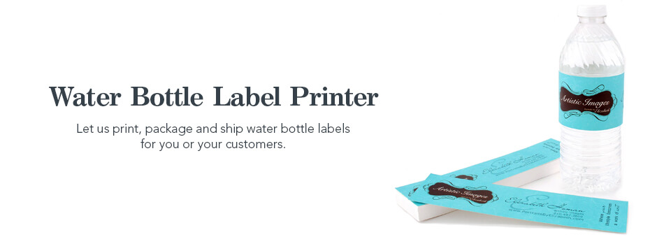 water bottle label printing company