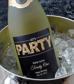 milestone birthday wine labels