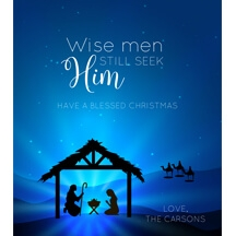 Wise Men Christmas Wine Label