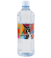 16.9 oz. custom labeled bottled water