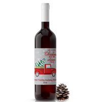 holiday wine bottle labels