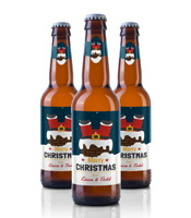 christmas beer labels