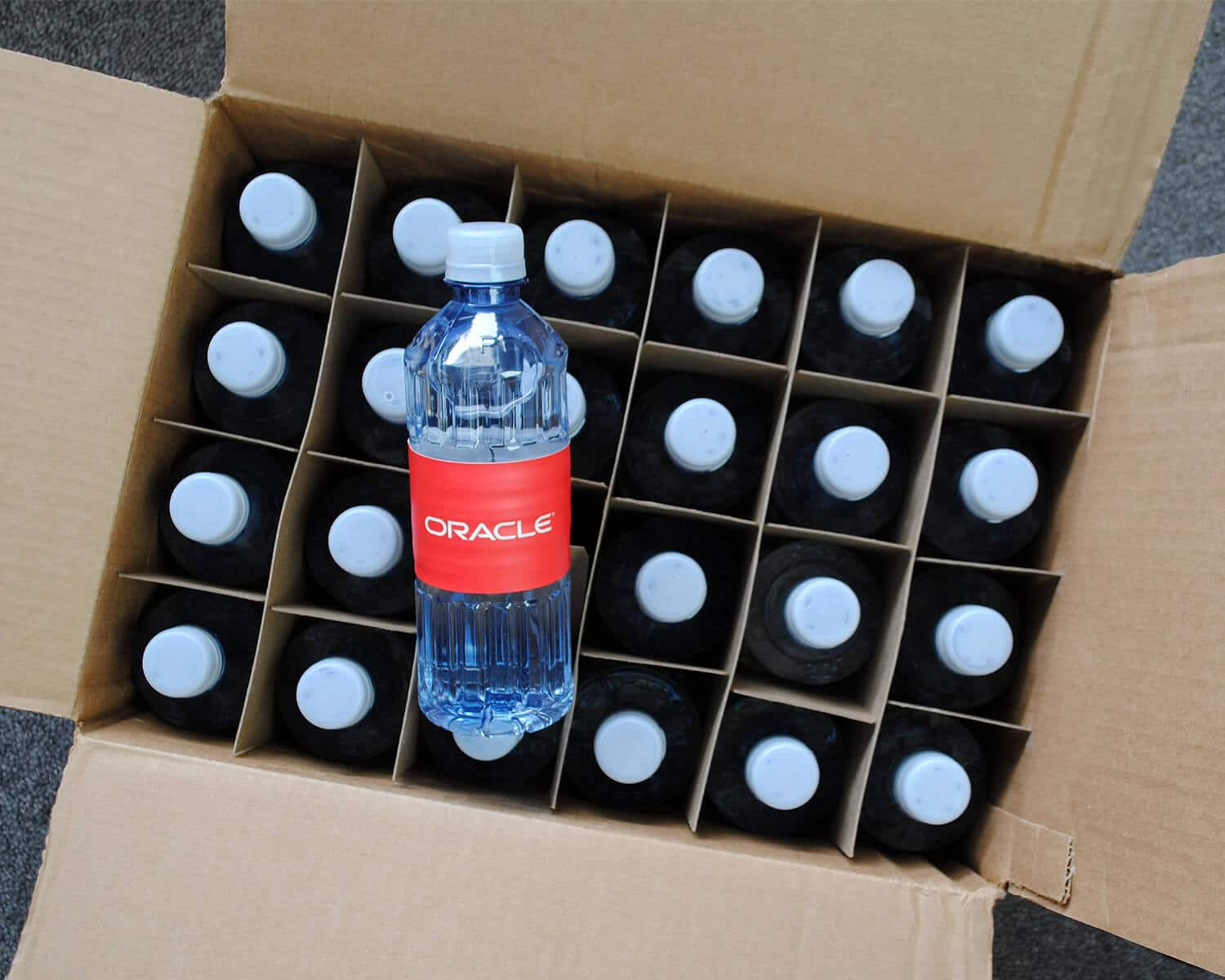 How we package custom bottled water cases