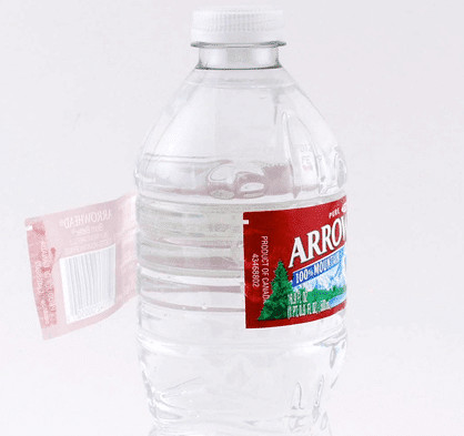 arrowhead water bottle label