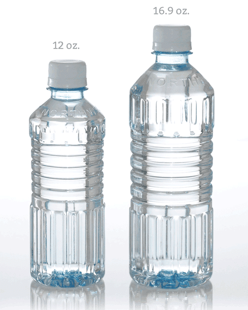 how to tell waterbottle sizes