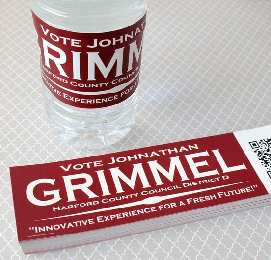 city council promotional labels