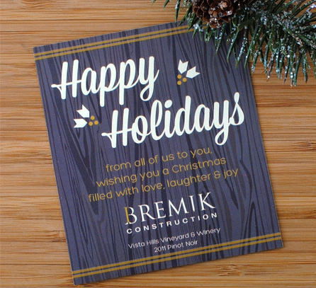 Christmas And Holiday Wine Labels Bottleyourbrand
