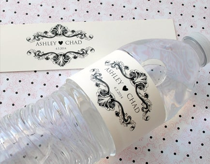 Wedding Water Bottle Labels - BottleYourBrand
