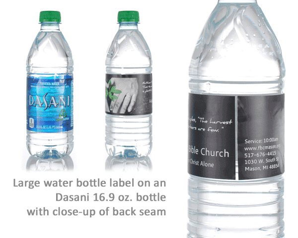Water Bottle Labels Wraps  12 Pieces